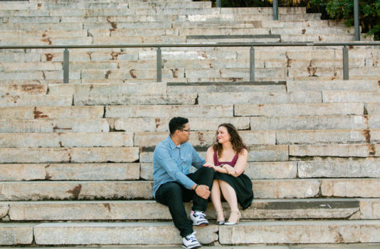 Brooklyn Bridge Park Engagement Session by Casey Fatchett Photography