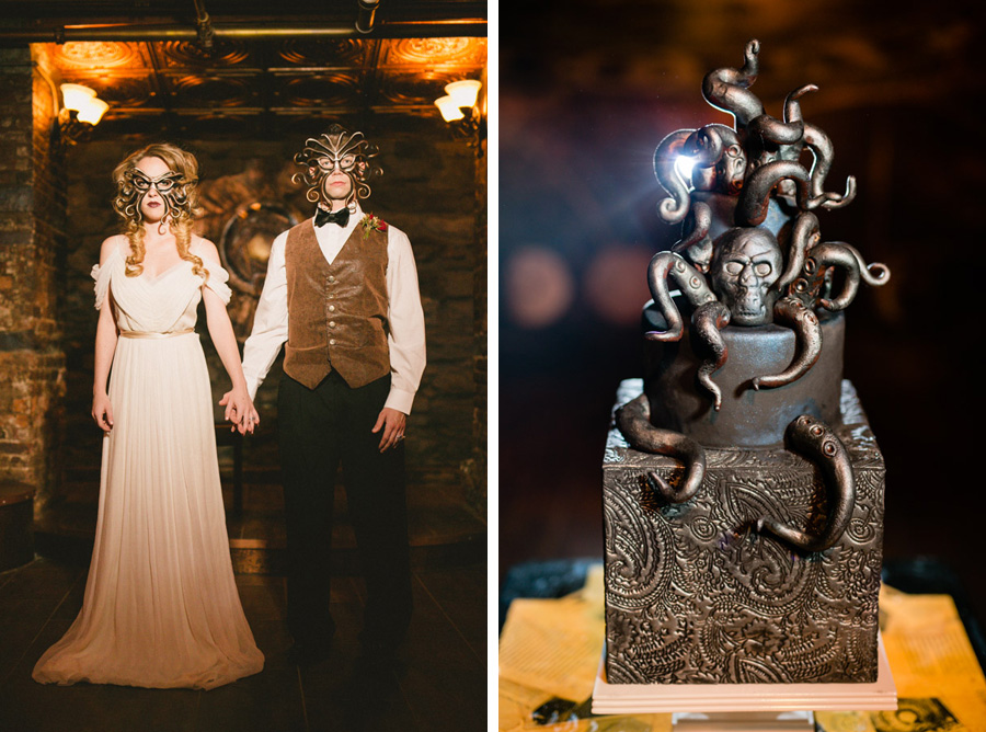 HP Lovecraft inspired Halloween wedding photo shoot by Casey Fatchett - www.fatchett.com