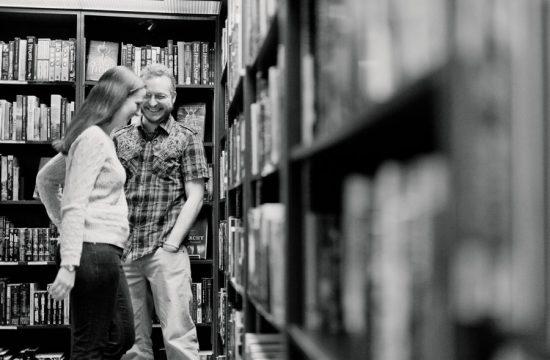 Book store engagement session by Casey Fatchett Photography - www.fatchett.com