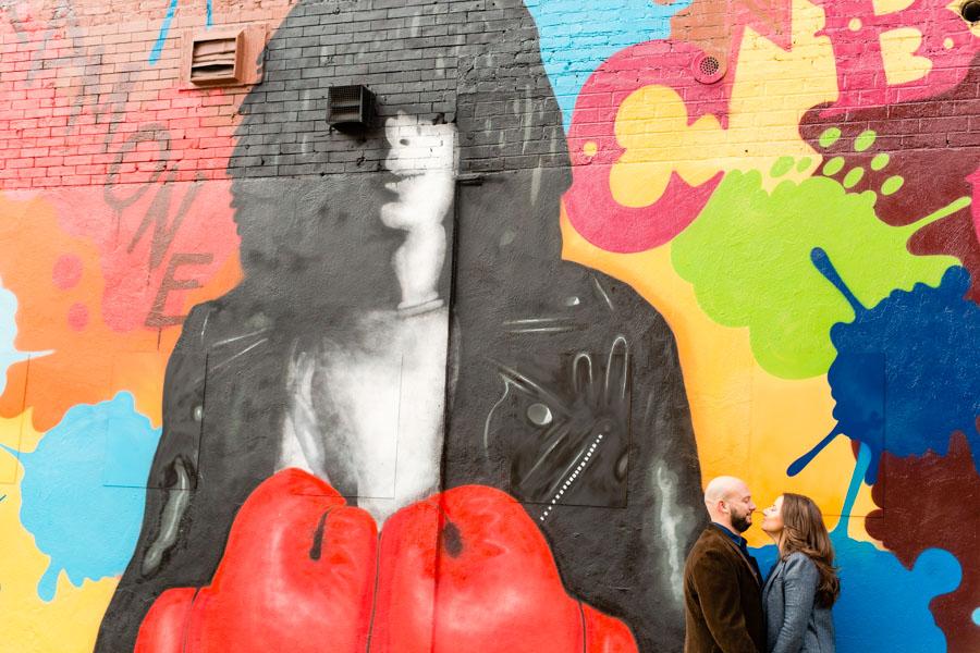 NYC Mural Graffiti Engagement Session by Casey Fatchett - www.fatchett.com