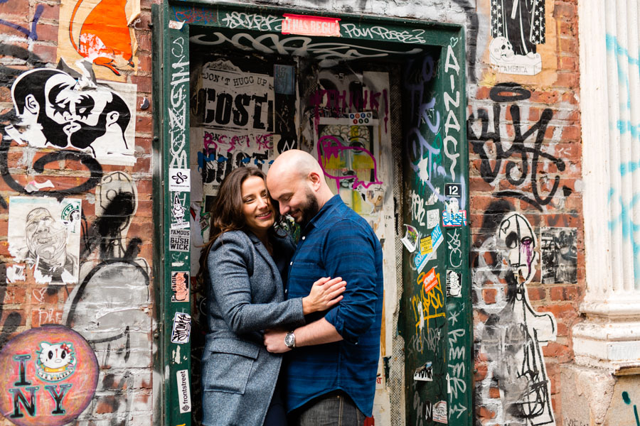 NYC Mural Graffiti Engagement Session by Casey Fatchett - www.fatchett.com
