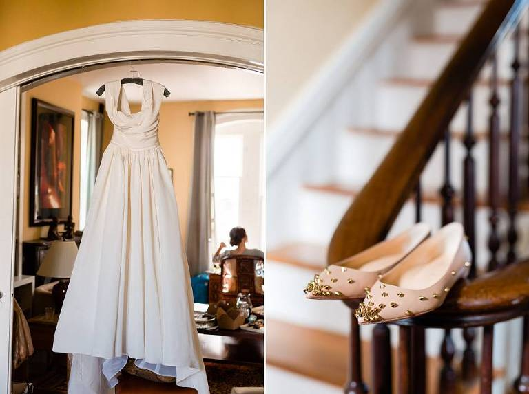 Marchesa wedding dress - Loubiton wedding shoes - photos by Casey Fatchett - www.fatchett.com