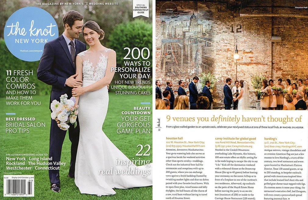 New York City wedding venues - Houston Hall - The Knot Magazine - photo by Casey Fatchett