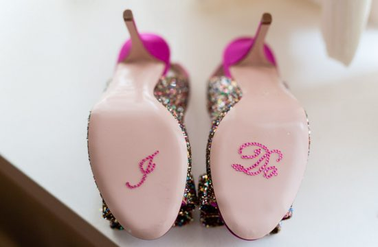 Sparkly Wedding Shoes - photo by Casey Fatchett - www.fatchett.com