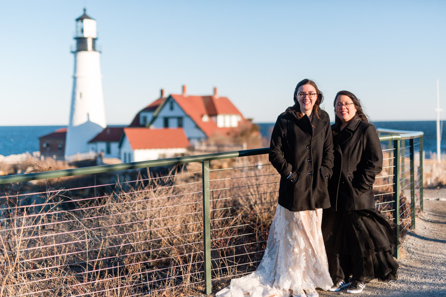 Lighthouse wedding photo by Casey Fatchett - fatchett.com