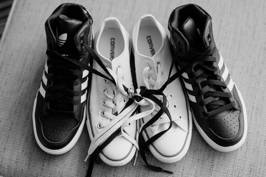 Wedding shoes and rings - photo by Casey Fatchett - fatchett.com