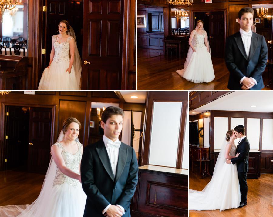 Bride and Groom First Look - fatchett.com