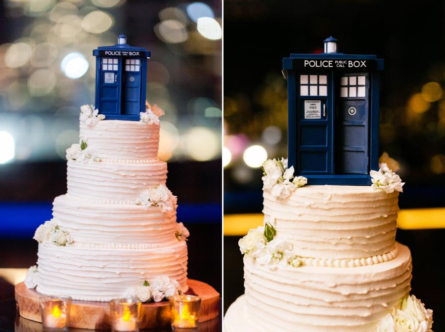 Doctor Who Wedding Cake - photo by Casey Fatchett - fatchett.com
