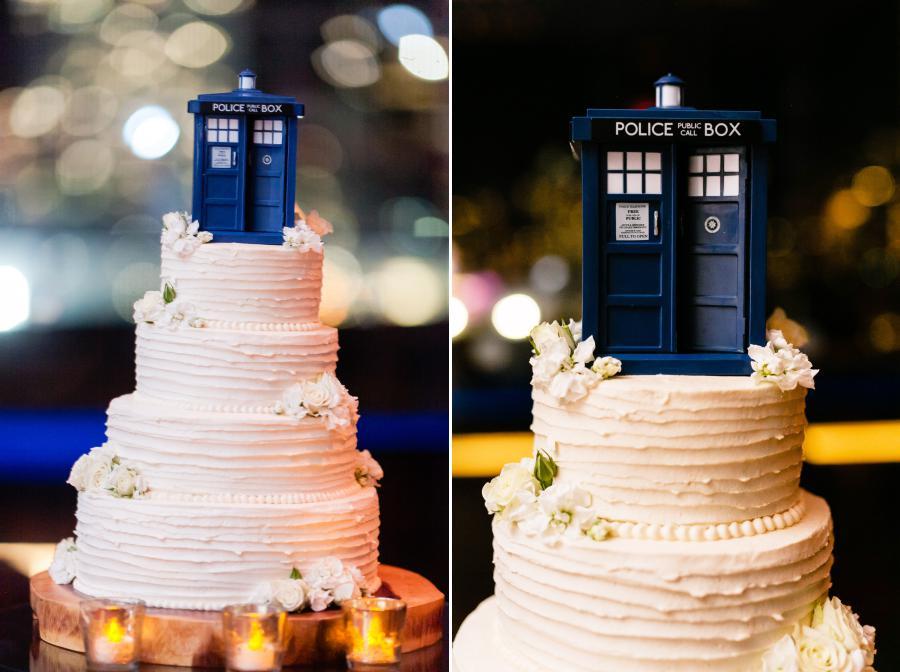 Doctor Who Wedding Cake - photo by Casey Fatchett - fatchett.com