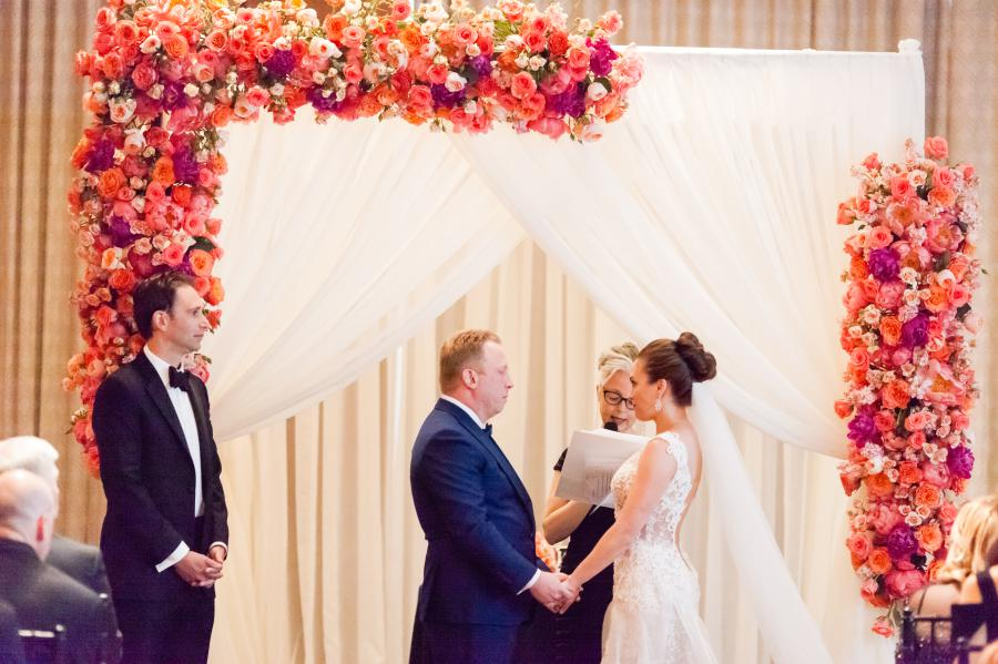 Floral chuppah by Bride & Blossom - photo by Casey Fatchett - fatchett.com