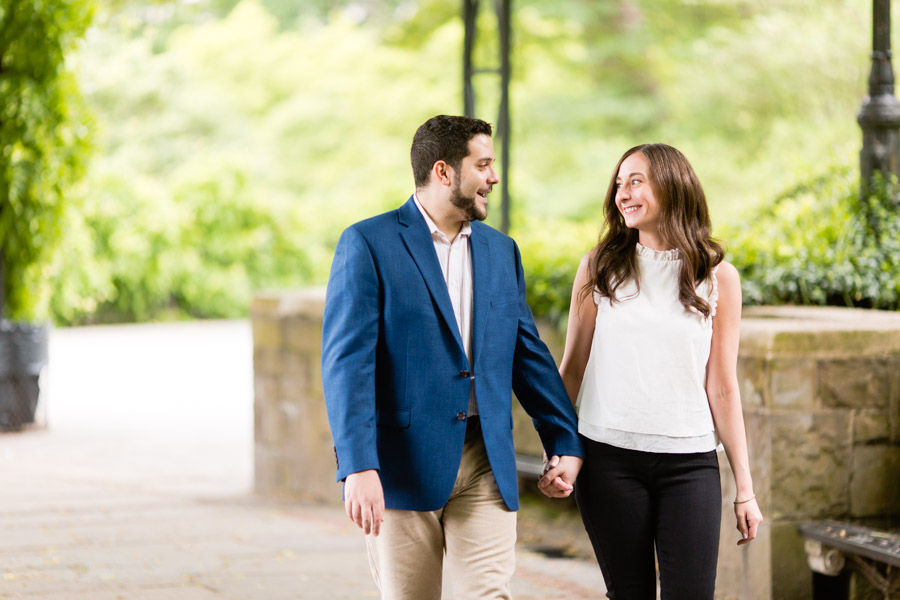 Central Park conservatory garden engagement session