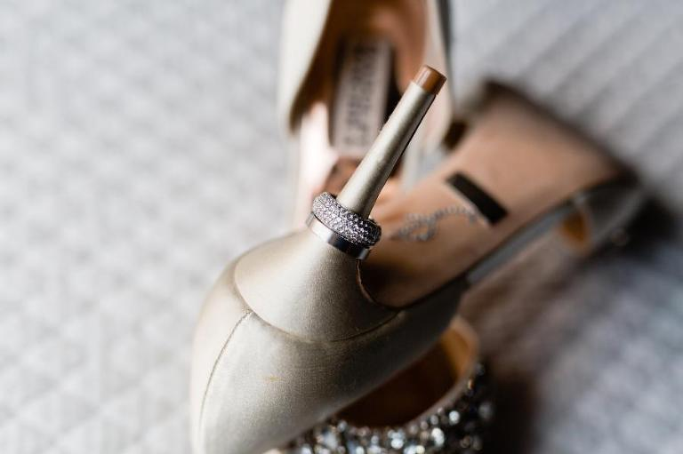 Wedding shoes and rings by Casey Fatchett Photography - fatchett.com