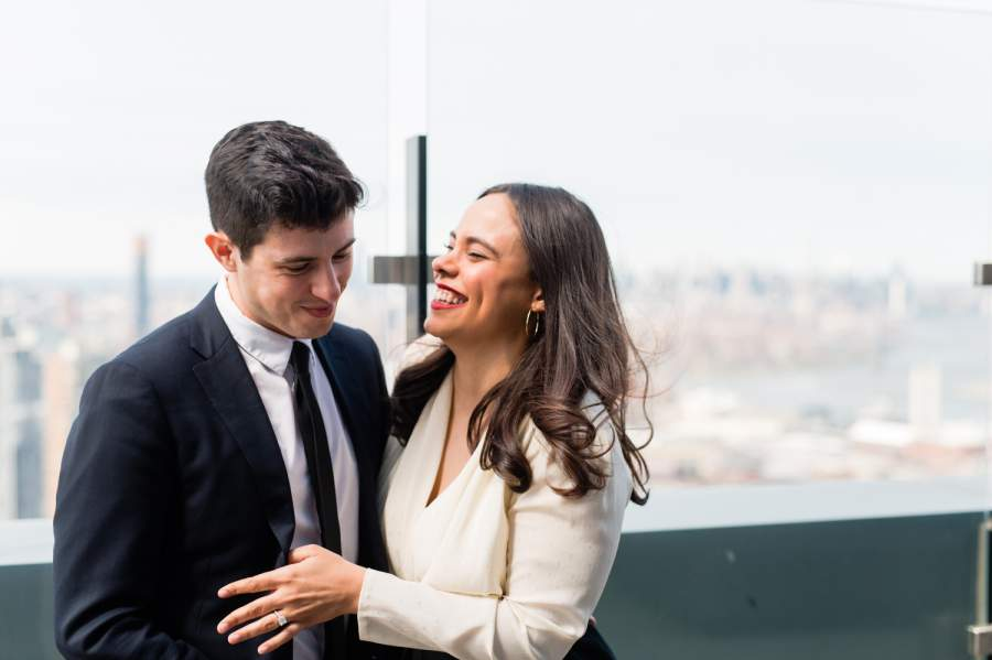 Brooklyn Rooftop Engagement Photos by Casey Fatchett - fatchett.com