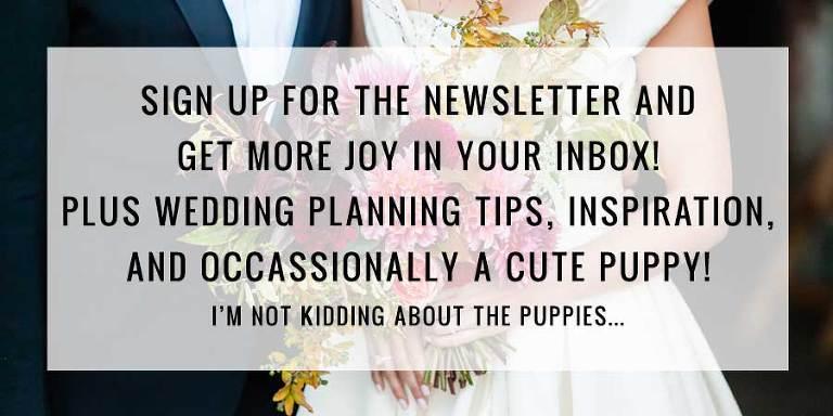 Wedding Planning Newsletter