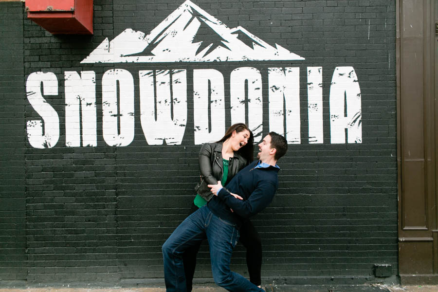 Astoria NYC movie themed engagement session