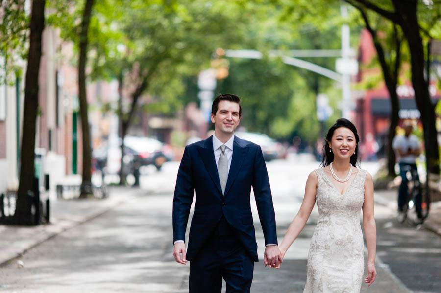 NYC restaurant wedding - photo by Casey Fatchett - fatchett.com