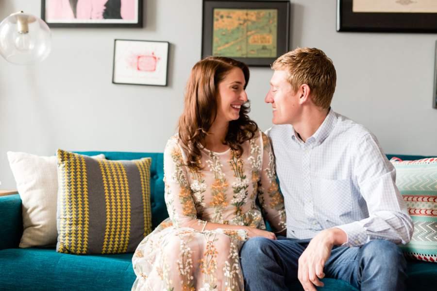 Engagement photo session at home - photo by Casey Fatchett - fatchett.com