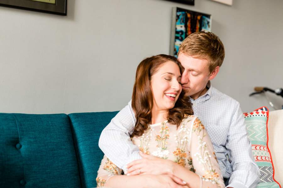 Engagement photo session at home - photo by Casey Fatchett - fatchett.com