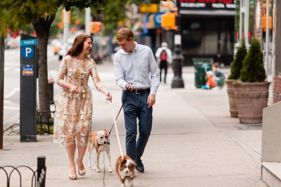 Dog walking engagement session - photo by Casey Fatchett - fatchett.com