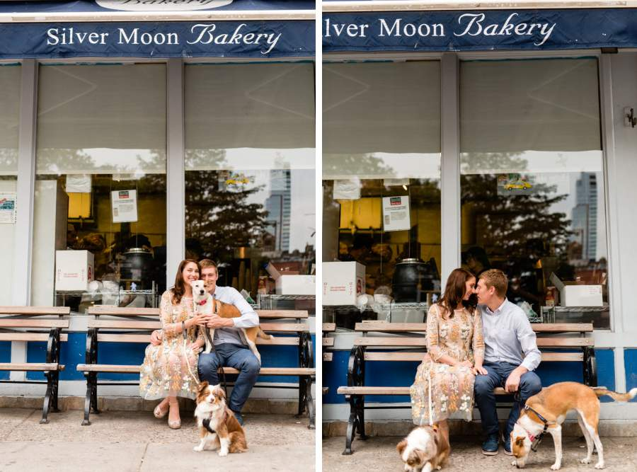 Dog walking engagement session