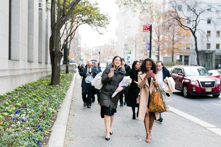 New York City city hall wedding - photo by Casey Fatchett - fatchett.com