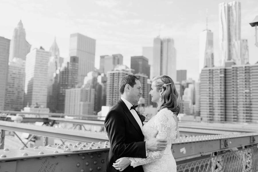 Brooklyn Bridge wedding photos - photo by Casey Fatchett - fatchett.com