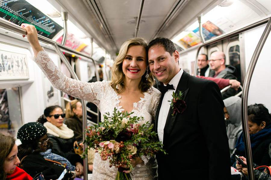 NYC subway wedding photos - photo by Casey Fatchett - fatchett.com