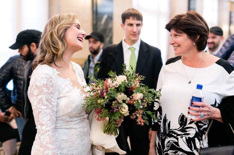 NYC city hall wedding - photo by Casey Fatchett - fatchett.com