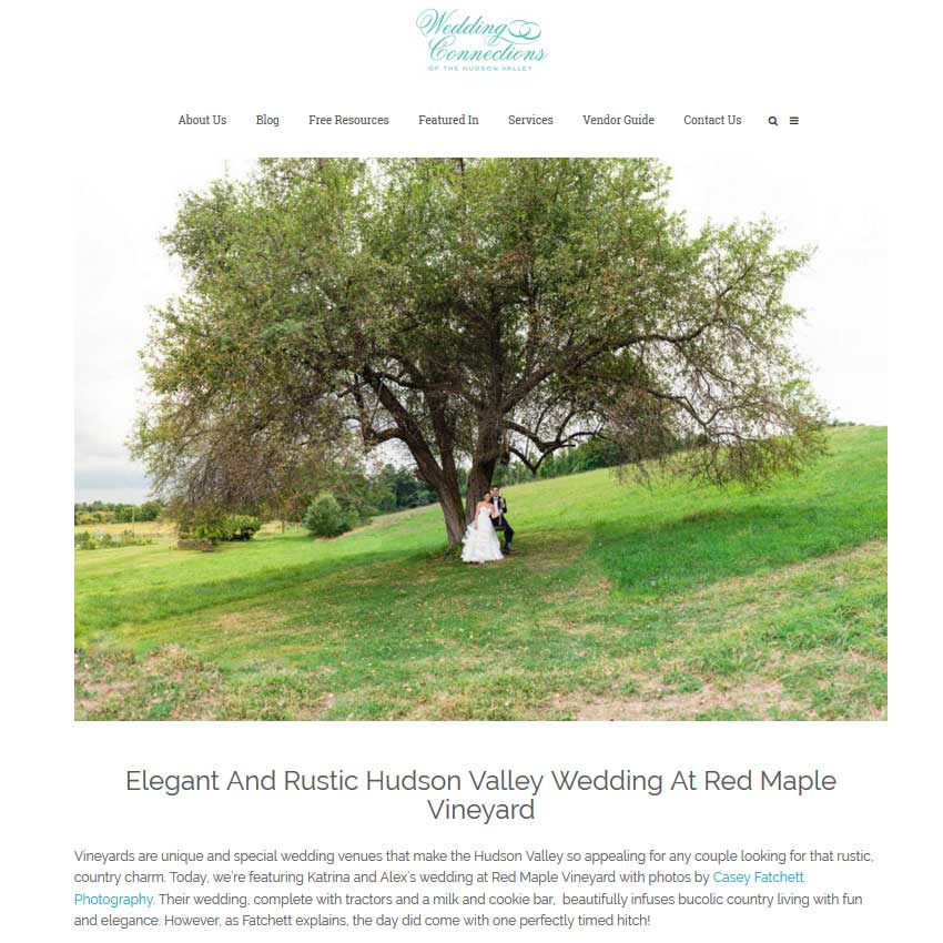 Red Maple Vineyard Wedding