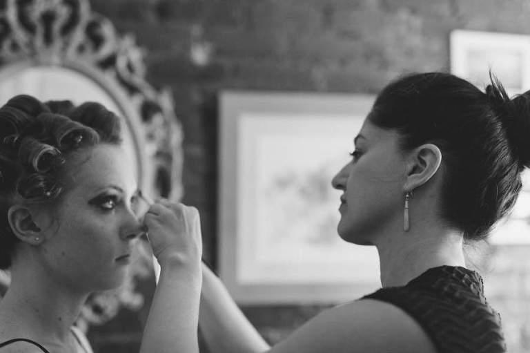 Sharon Becker Makeup Artist at work - photo by Casey Fatchett - www.fatchett.com