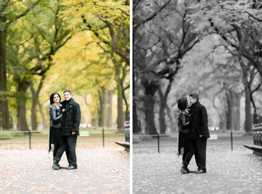 Central Park Fall engagement session
