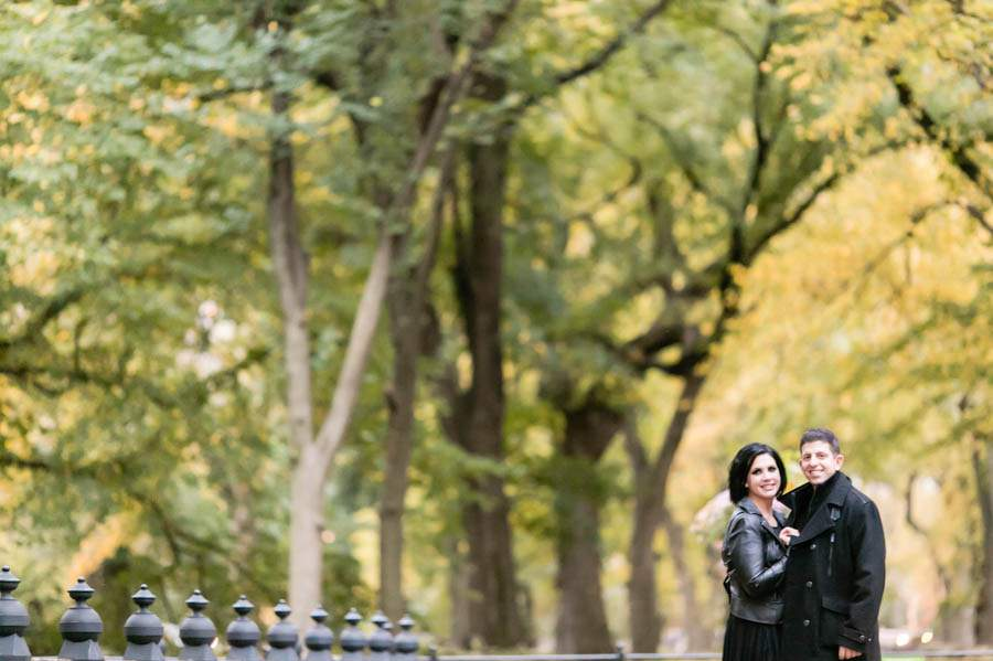 fall engagement photos in central park nyc