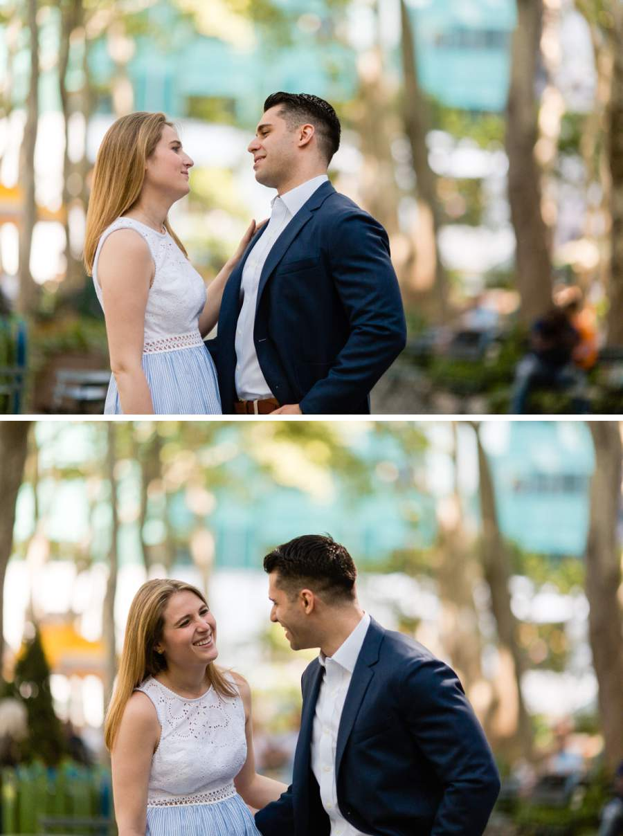 bryant park engagement photos