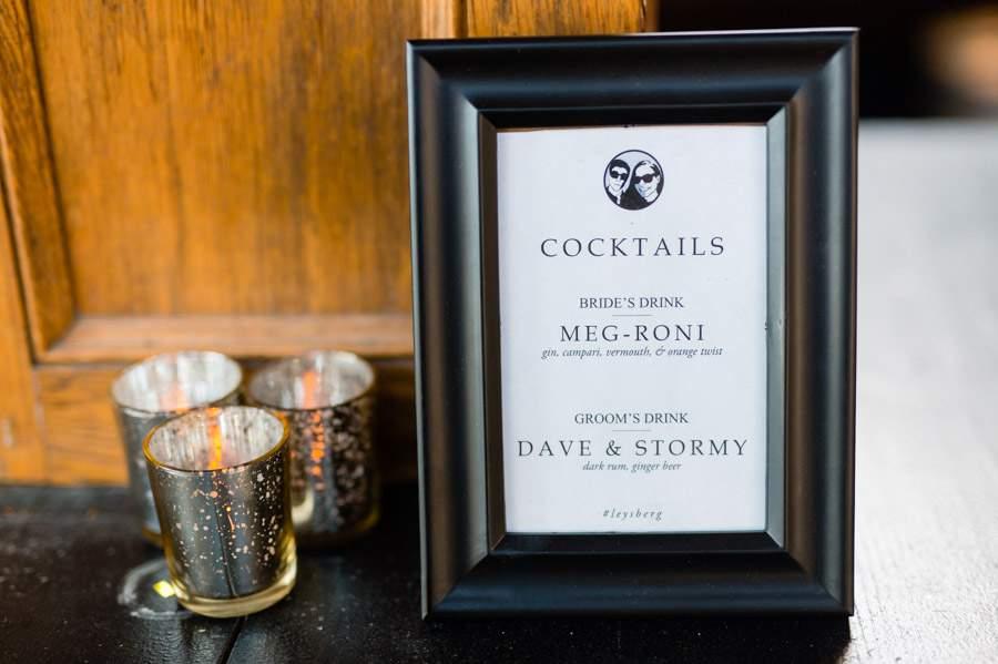 Signature cocktails - Hudson NY wedding - photos by Casey Fatchett