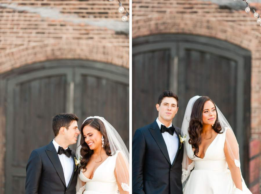 Bride and groom portraits - photos by Casey Fatchett