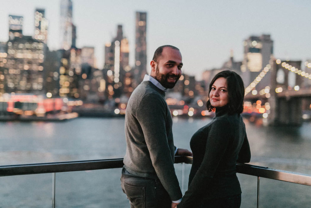 brooklyn bridge engagement session photos