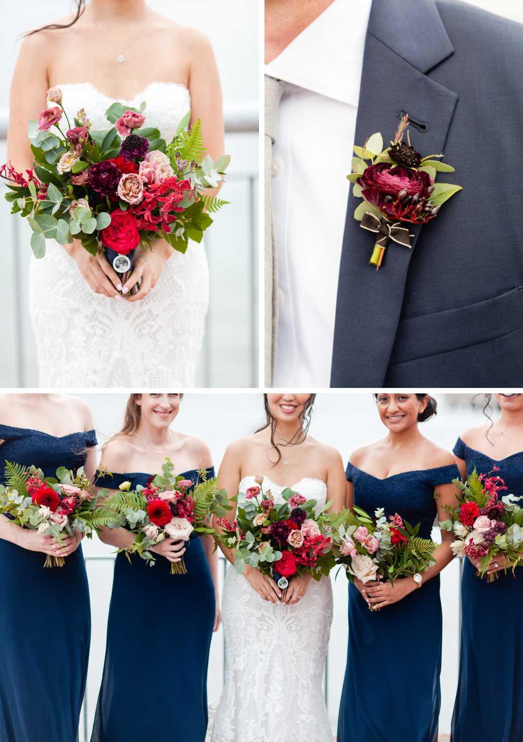 wedding flowers bouquet boutonierre