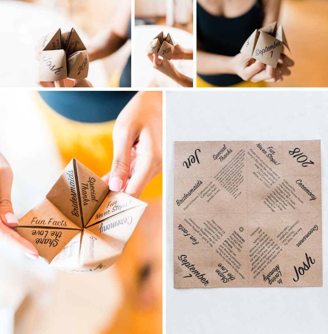 fortune teller foldable wedding program