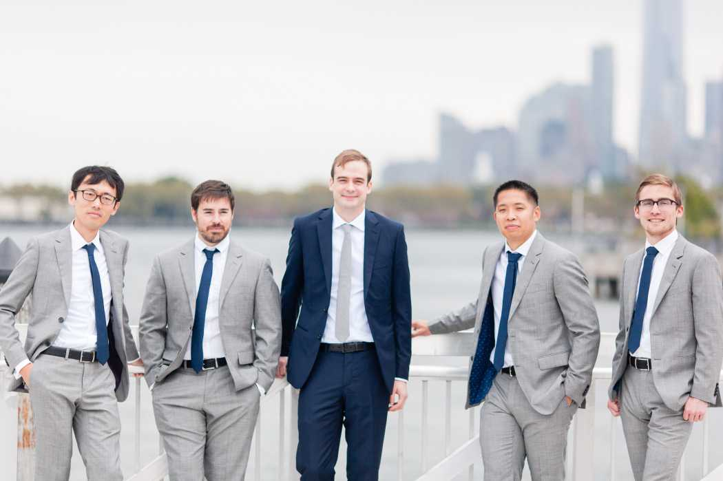 new york city wedding party groomsmen