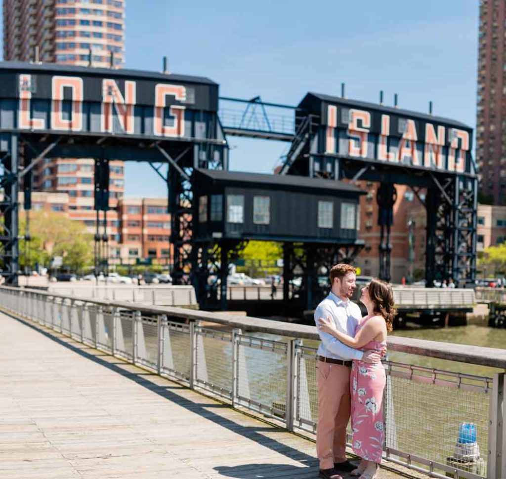 long island city ferry terminal engagement photos