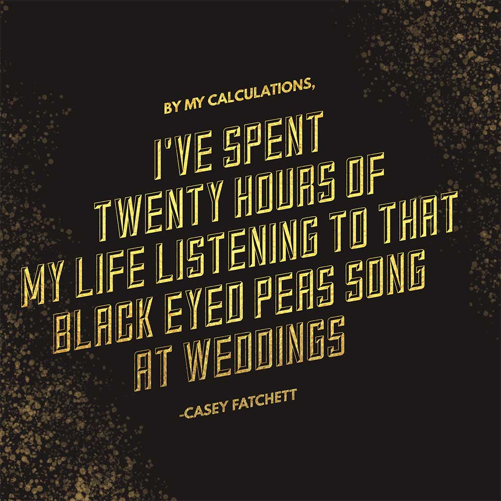 20 hours of black eyed peas by Casey Fatchett Photography