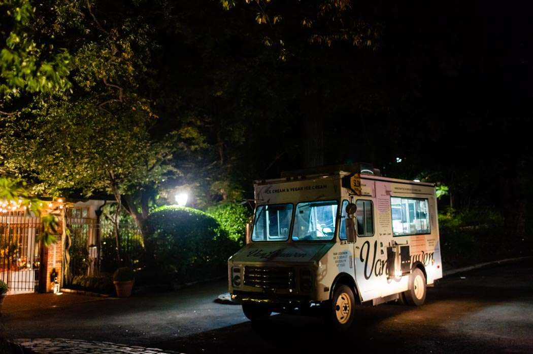 van leeuwen ice cream truck at NYC wedding