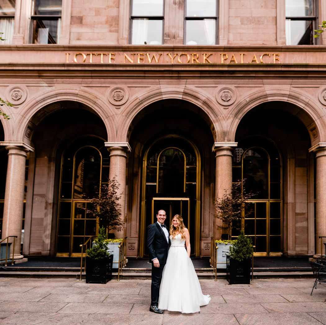 wedding bride and groom new york palace hotel