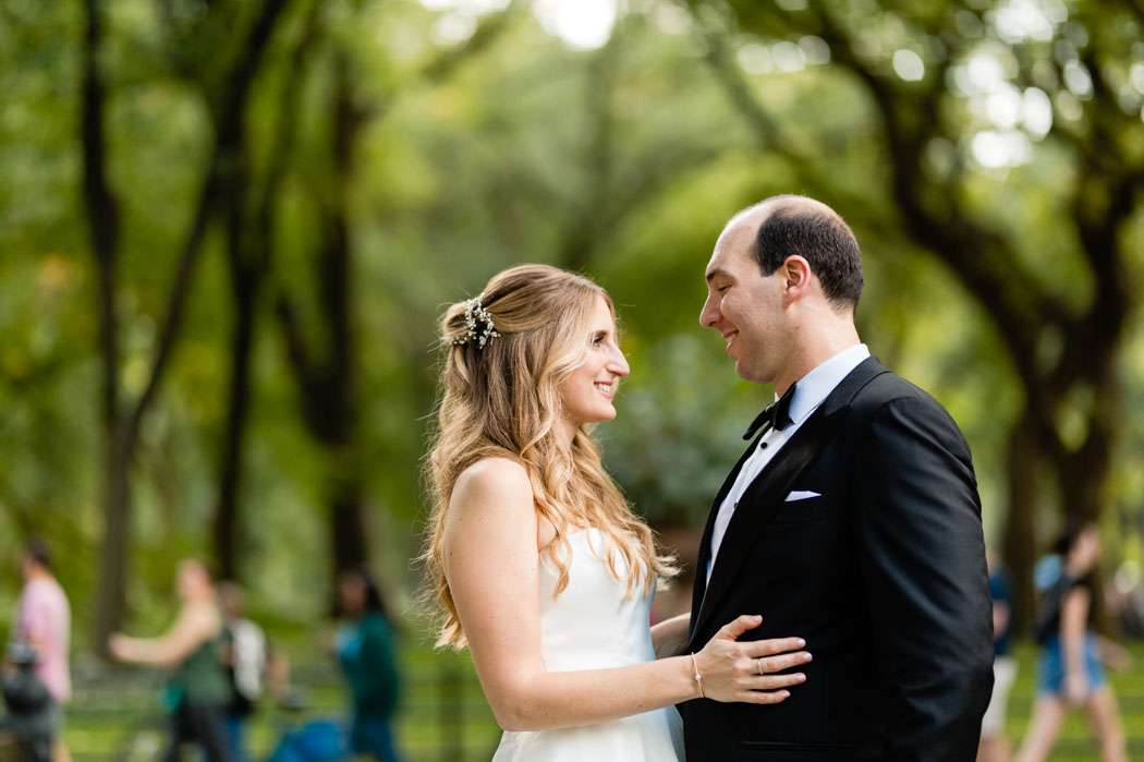 central park loeb boathouse wedding photos bride and groom portraits