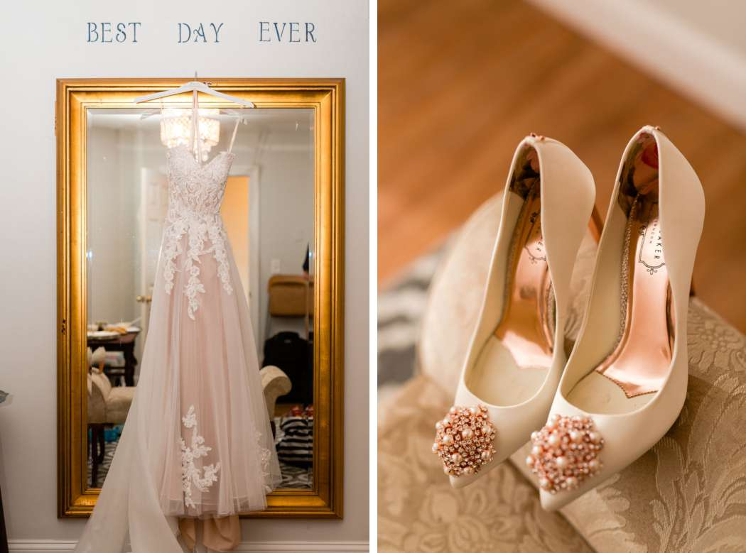 wedding dress wedding shoes