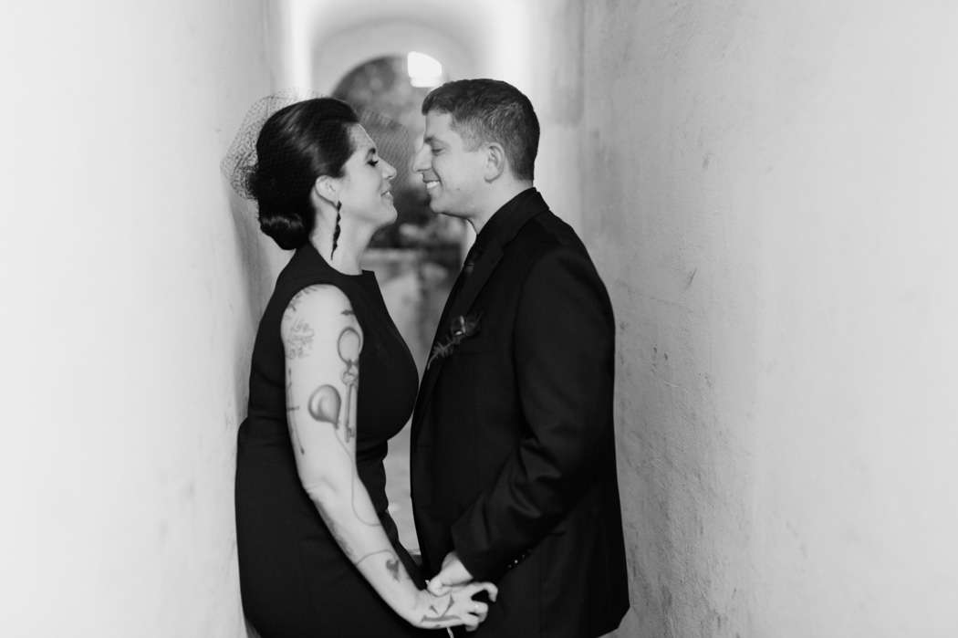 New York City wedding bride and groom