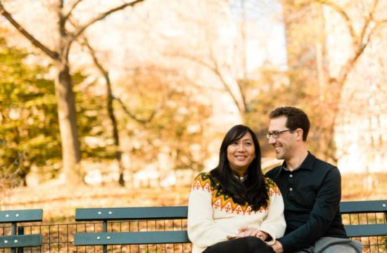 central park fall engagement