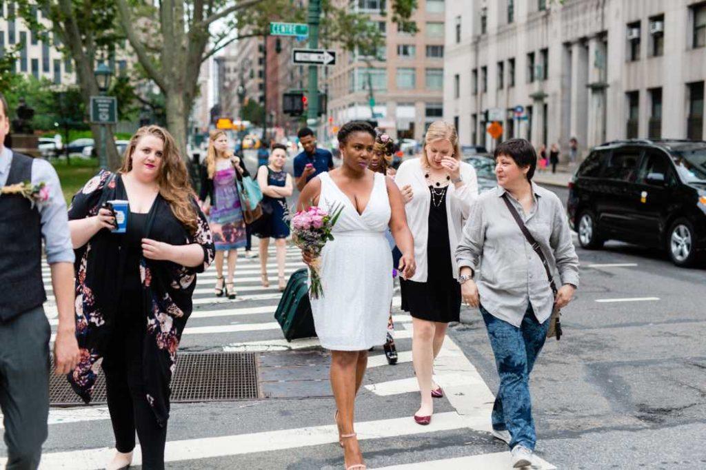 NYC City Hall micro wedding photographed by Casey Fatchett