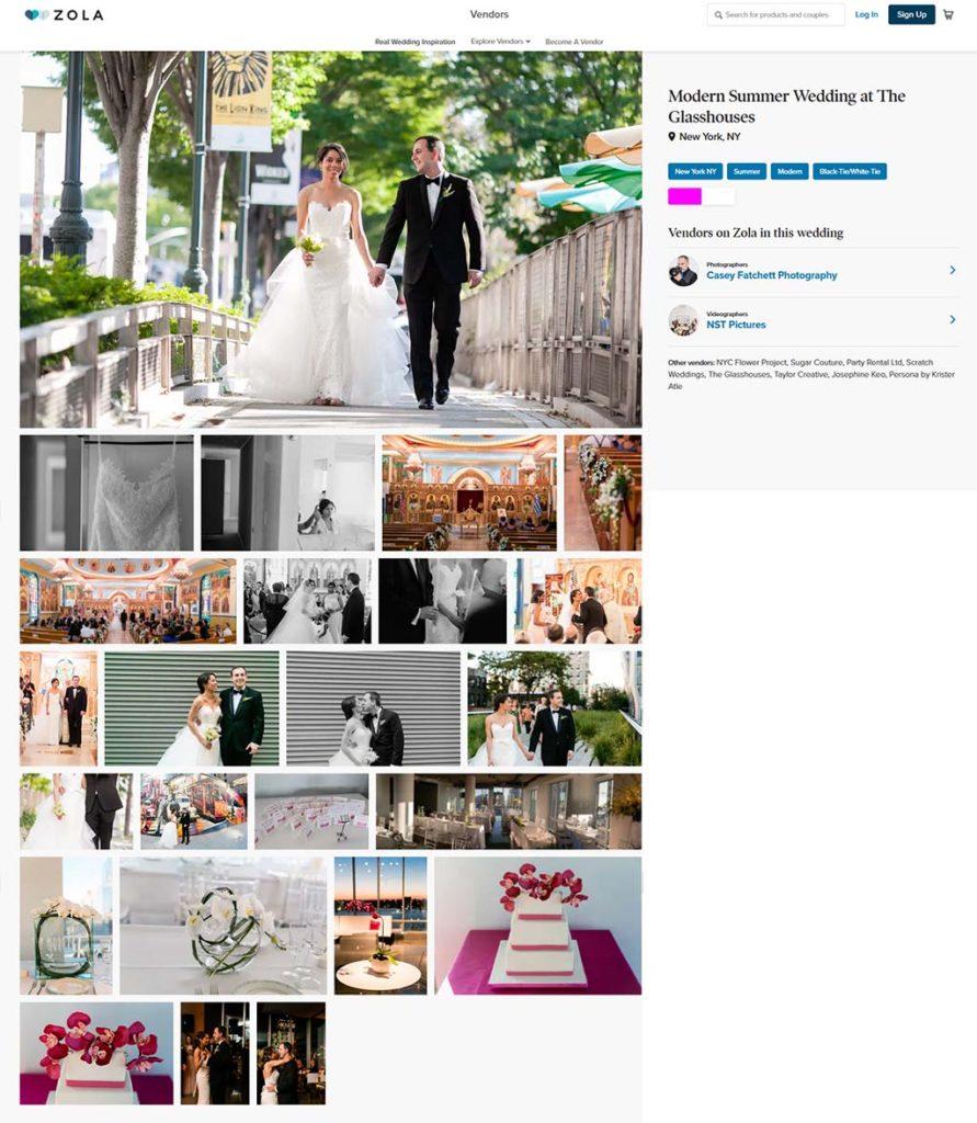 modern summer wedding featured on zola