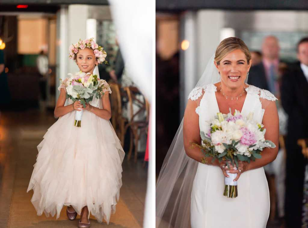 bride and flower girl new jersey wedding photographer